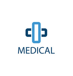 medical cross icon pharmacy logo template vector image