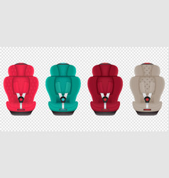 modern set car seat icons in colors editable vector image