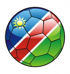 namibia flag on soccer ball vector image