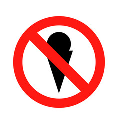 no ice cream symbol icon vector image