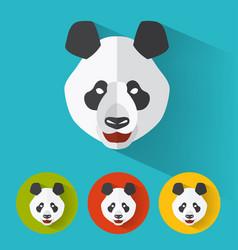 panda portrait with flat design vector image
