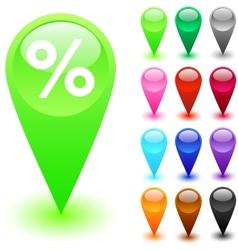 Percent button vector