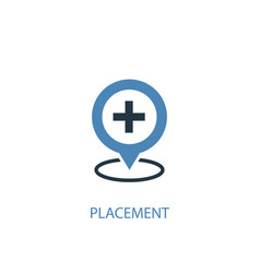 Placement concept 2 colored icon simple blue vector