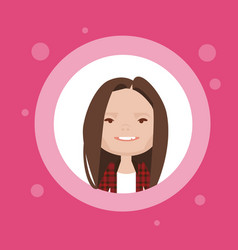 profile icon female avatar woman cartoon portrait vector image