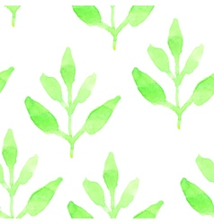 Retro seamless pattern with green plants Seamless vector image