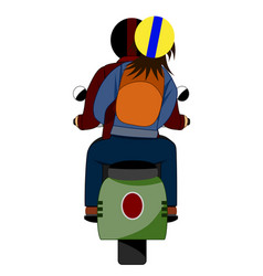 Ride motorcycle back vector