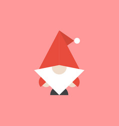 santa or gnome scandinavian design vector image