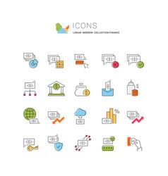 Set line icons finance vector