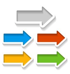 set paper arrows vector image