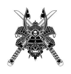 skull samurai 0003 vector image