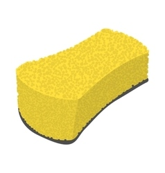 Sponge wiping cartoon icon vector image