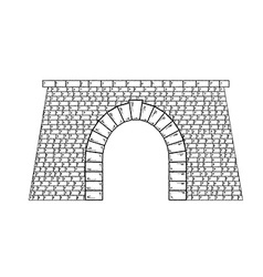 Stone tunnel vector