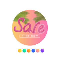 summer sale background with palm vector image