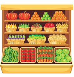 Supermarket Vegetables and fruits vector