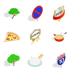 switzerland icons set isometric style vector image