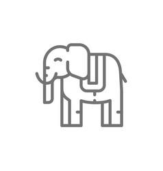 thai sacred elephant animal line icon vector image
