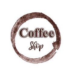 Thematic coffee shop logo isolated on white vector