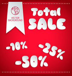 Total sale design template vector