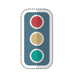 Traffic light semaphore icon vector