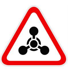 Triangular yellow warning hazard symbol vector