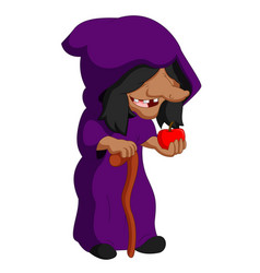 Witch holding an apple vector