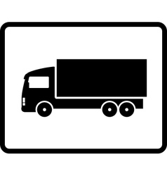 black shipping truck vector image
