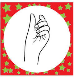 female hands holding or picking up vector image vector image