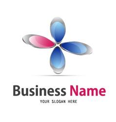 flower icon logo vector image