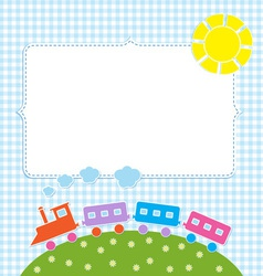 Frame with colorful train vector image