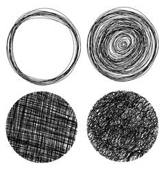 Hand drawn grunge circles vector image