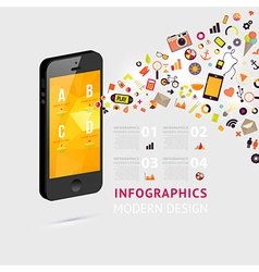 Infographic Template for Phone vector image
