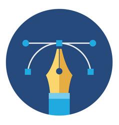 pen tool graphic design icon vector image vector image