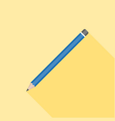 pencil icon flat design with long shadow vector image