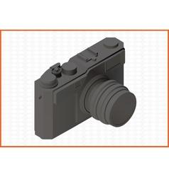 Photocamera isometric flat 3d vector