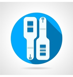 Round blue icon for pregnancy tests vector image vector image