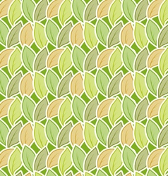 Seamless stylized foliage pattern vector image vector image