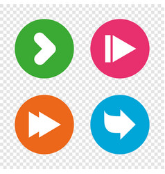 arrow icons next navigation signs symbols vector image