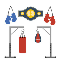 boxing set vector image