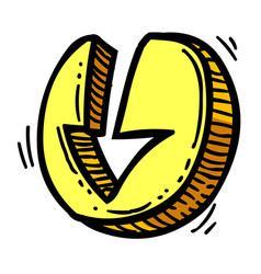 cartoon image of download icon arrow symbol vector image vector image