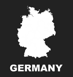 germany map icon flat germany sign symbol on vector image