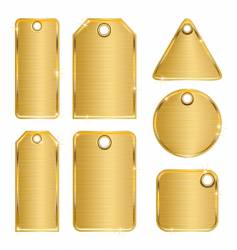 golden tags vector image vector image