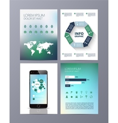 Abstract eco Brochure Flyer design template vector image