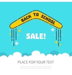 Boomerang flying back to school vector image vector image