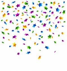 confetti stars background vector image vector image