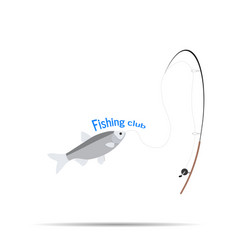 logo of the company logo fishing club sign vector image vector image