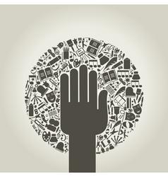 Arts a hand vector image vector image