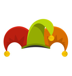 circus jester icon flat style vector image