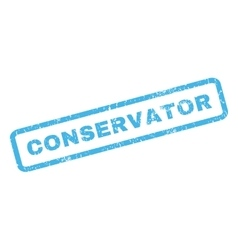 Conservator Rubber Stamp vector image vector image