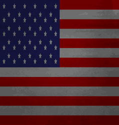 Grunge messy flag USA america vector image