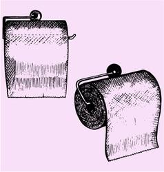toilet paper holder vector image